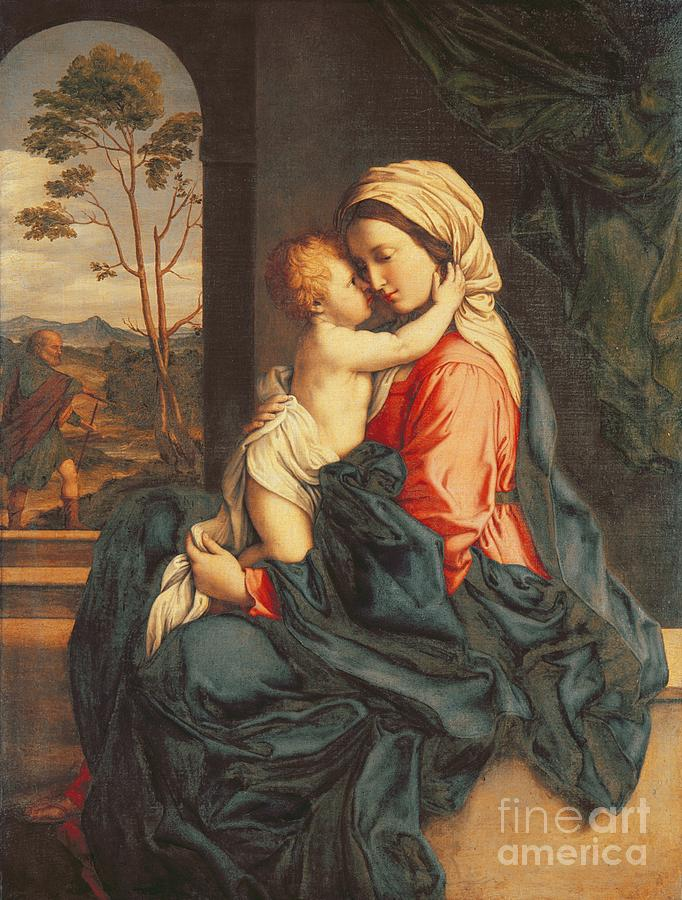 The Virgin And Child Embracing Painting By Giovanni