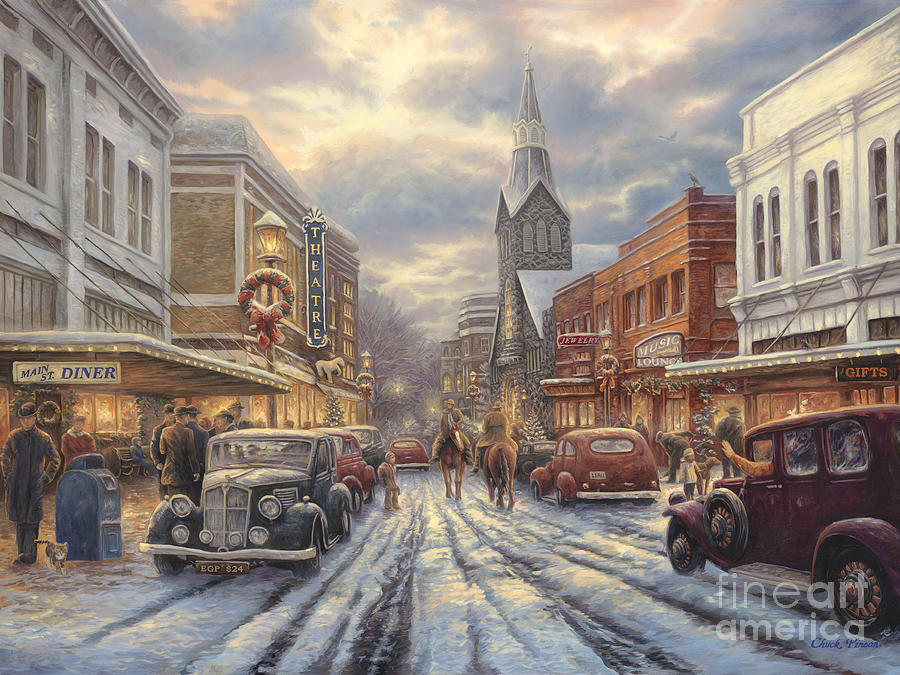 The Warmth Of Small Town Living Painting By Chuck Pinson