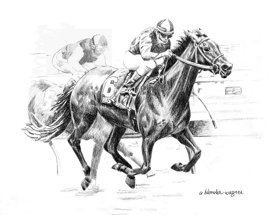 Thoroughbred Best Pal Drawing by Arline Wagner