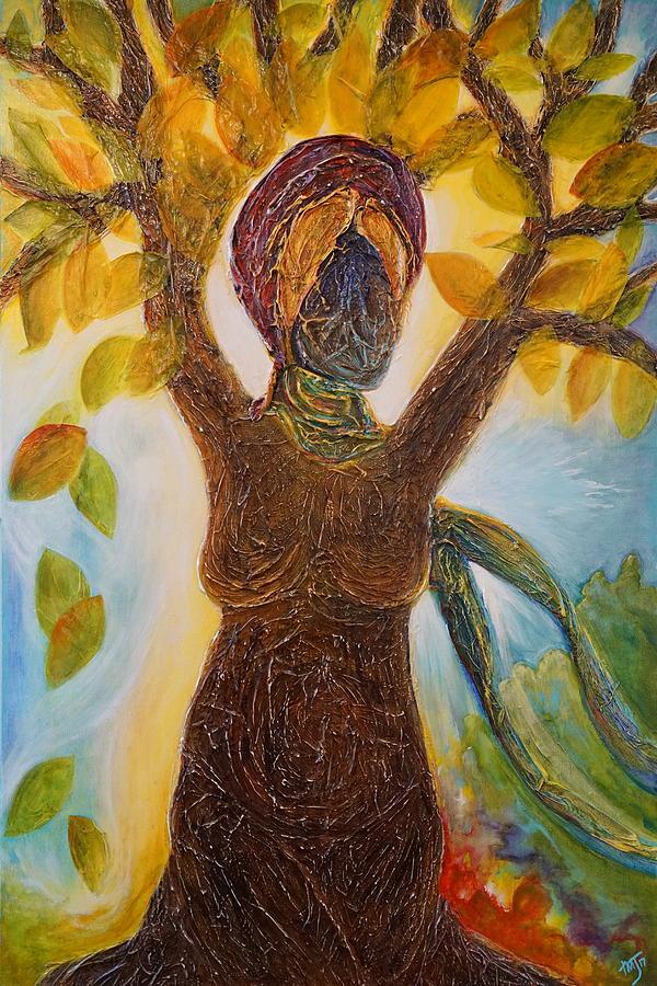Tree Woman Art : woman, Woman, Painting, Theresa, Marie, Johnson