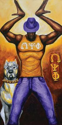 Tride And True Omeg Psi Phi Painting by The Art of DionJa'Y