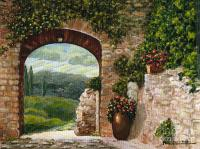 Tuscan Arch Painting by Italian Art