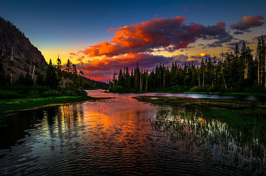 Fall Wooded Wallpaper Twin Lakes Sunset Mammoth Lakes California Photograph By