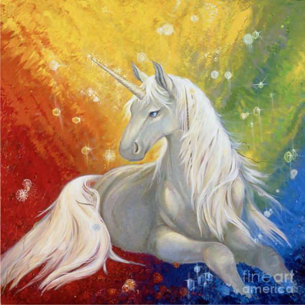 Unicorn Rainbow Painting Silvia Duran