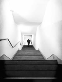 Up Stairs Photograph by Artecco Fine Art Photography