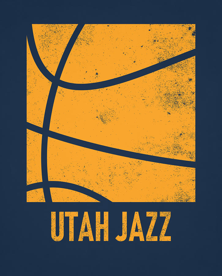 utah jazz city poster art 2 by joe hamilton