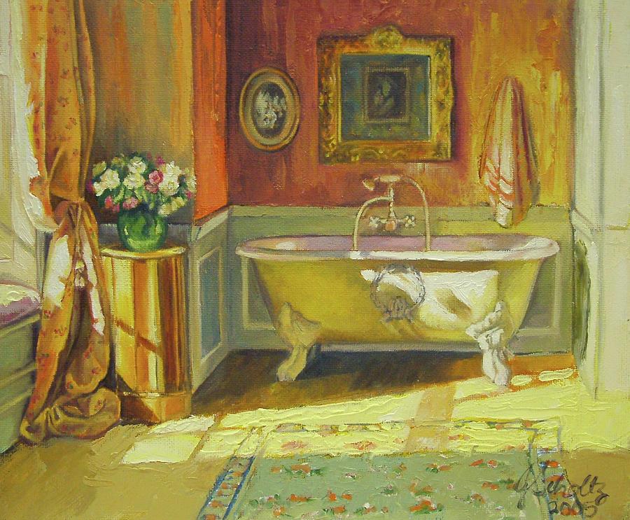 Victorian Bath Painting by Jonel Scholtz
