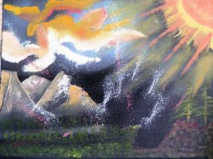 Victory of light over darkness Painting by Reginald Pierre