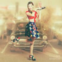Vintage Drive Thru Pin-up Girl Photograph by Jorgo ...
