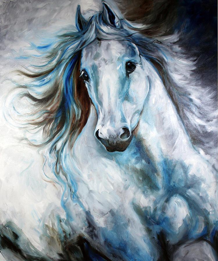 white thunder arabian abstract