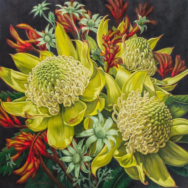 White Waratahs Flannel Flowers And Kangaroo Paws 3