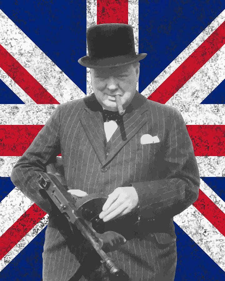 Union Jack Iphone Wallpaper Winston Churchill And Flag Painting By War Is Hell Store