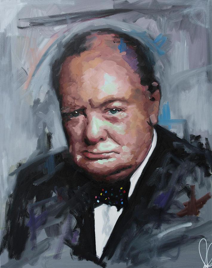 Winston Churchill Portrait Painting : winston, churchill, portrait, painting, Winston, Churchill, Painting, Richard