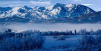 Winter In Ogden Valley In The Wasatch Mountains Of