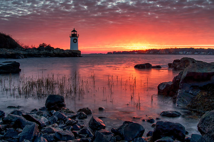 Chargers Iphone Wallpaper Winter Island Lighthouse Photograph By Kathy Valido