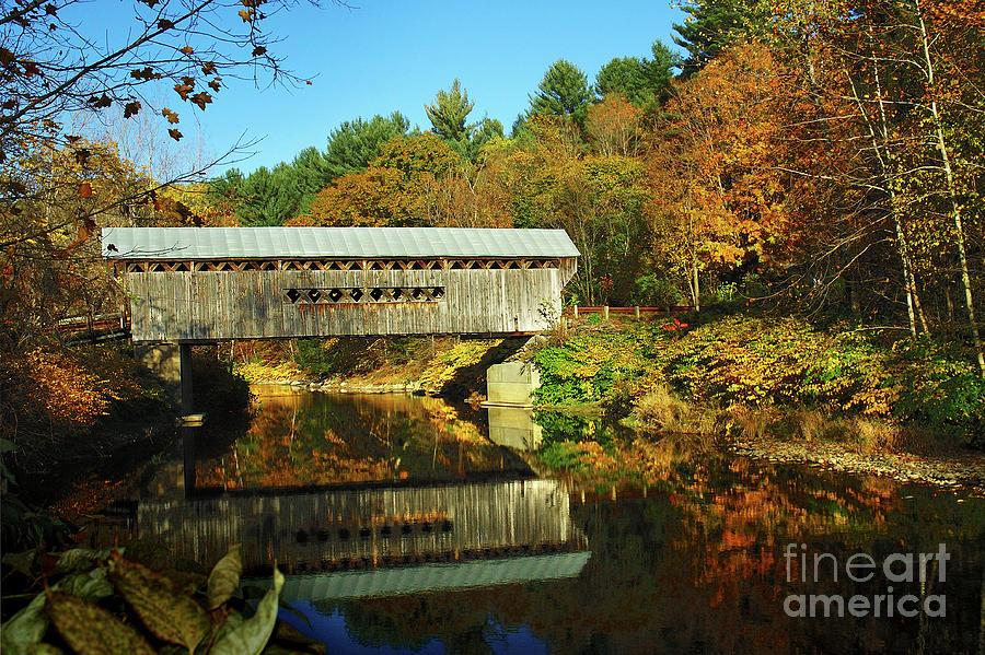 Iphone Six Fall Wallpaper Worrall S Bridge Vermont New England Fall Landscape
