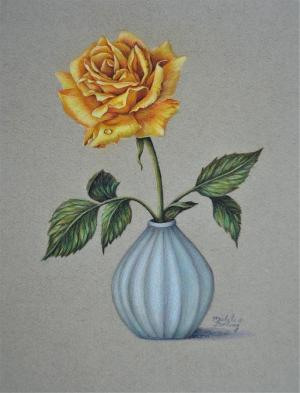 rose yellow bolling michele drawing drawings 30th uploaded august which