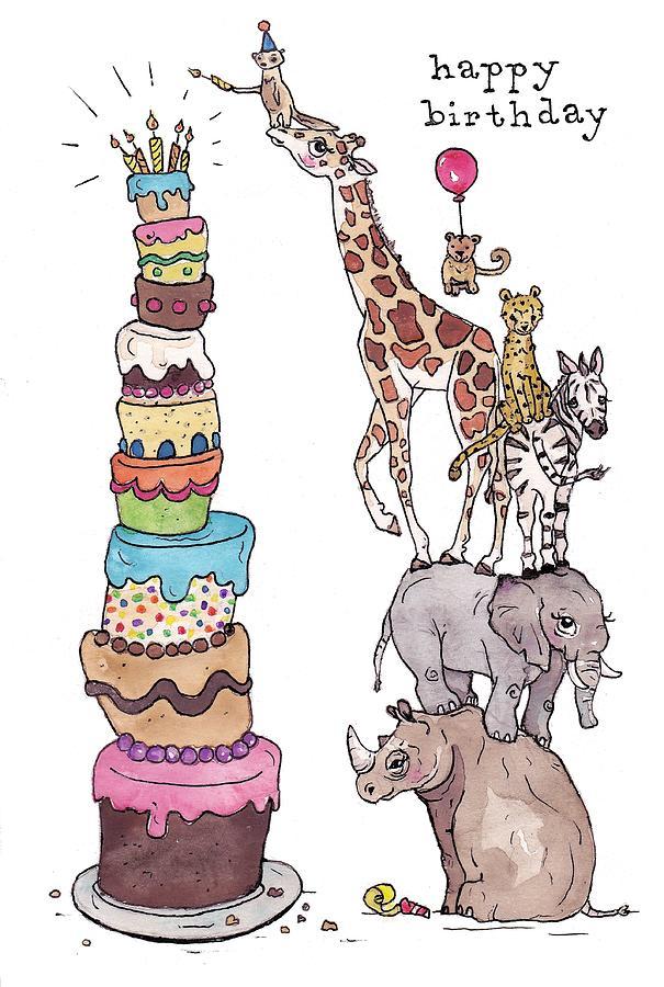 zoo animals happy birthday