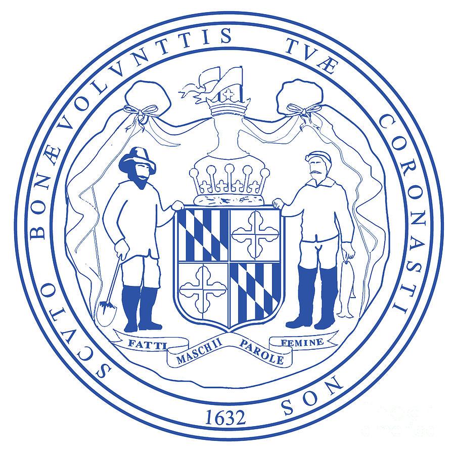 Maryland State Seal Digital Art By Bigalbaloo Stock