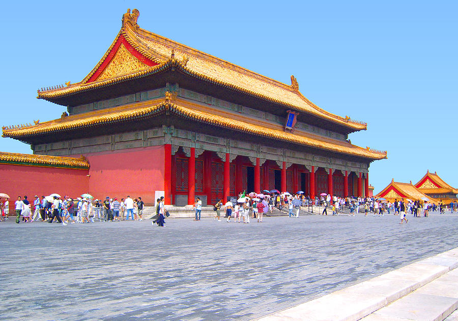 Beautiful Photo Of The Forbidden City. Palace Museum. In Beijing. China. Photograph by Steve Clarke