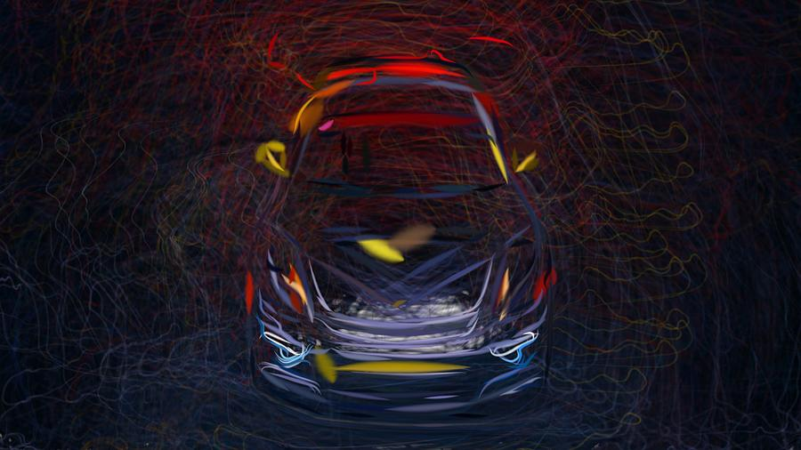 Vorsteiner Porsche Cayman Gt4 V Cs Aero Draw Digital Art By
