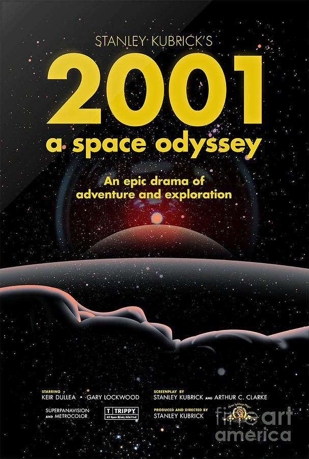 2001 space odyssey poster by pd