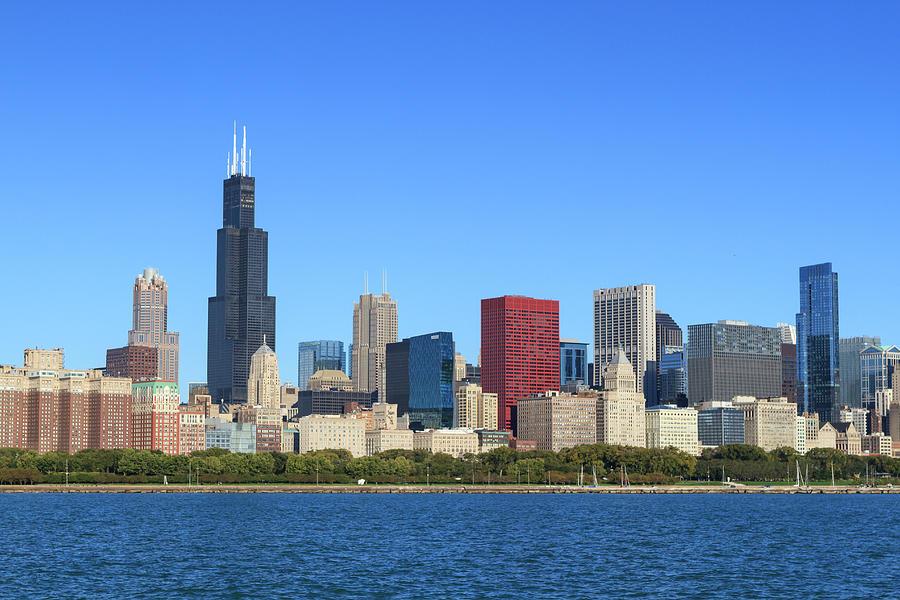 chicago skyline by fraser