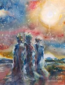 3 Kings Painting by Nicole Vilardo