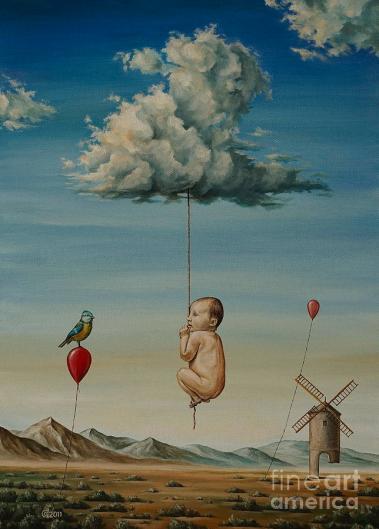 Childhood Memory Painting by Svetoslav Stoyanov
