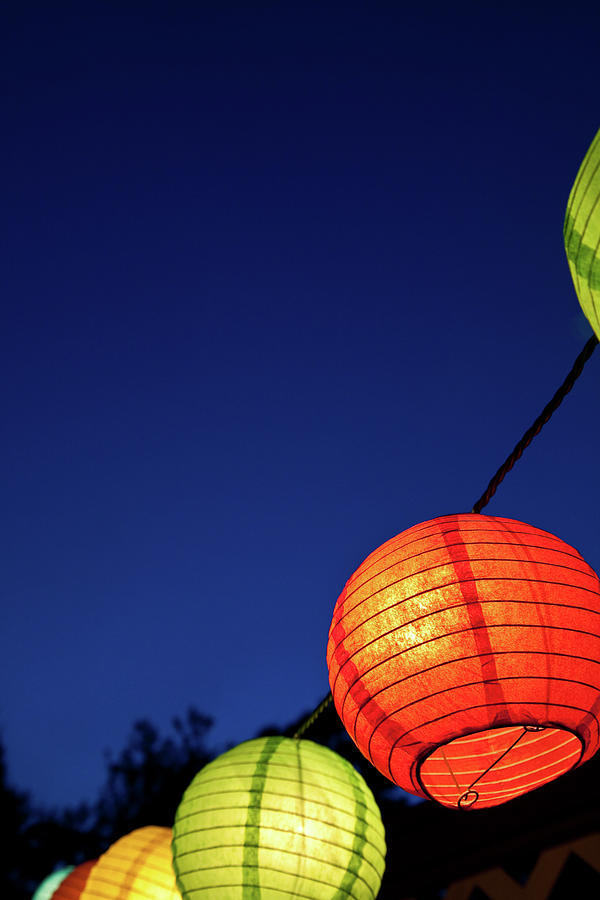 colorful chinese lanterns against