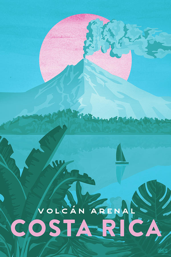costa rica travel poster by missy ames