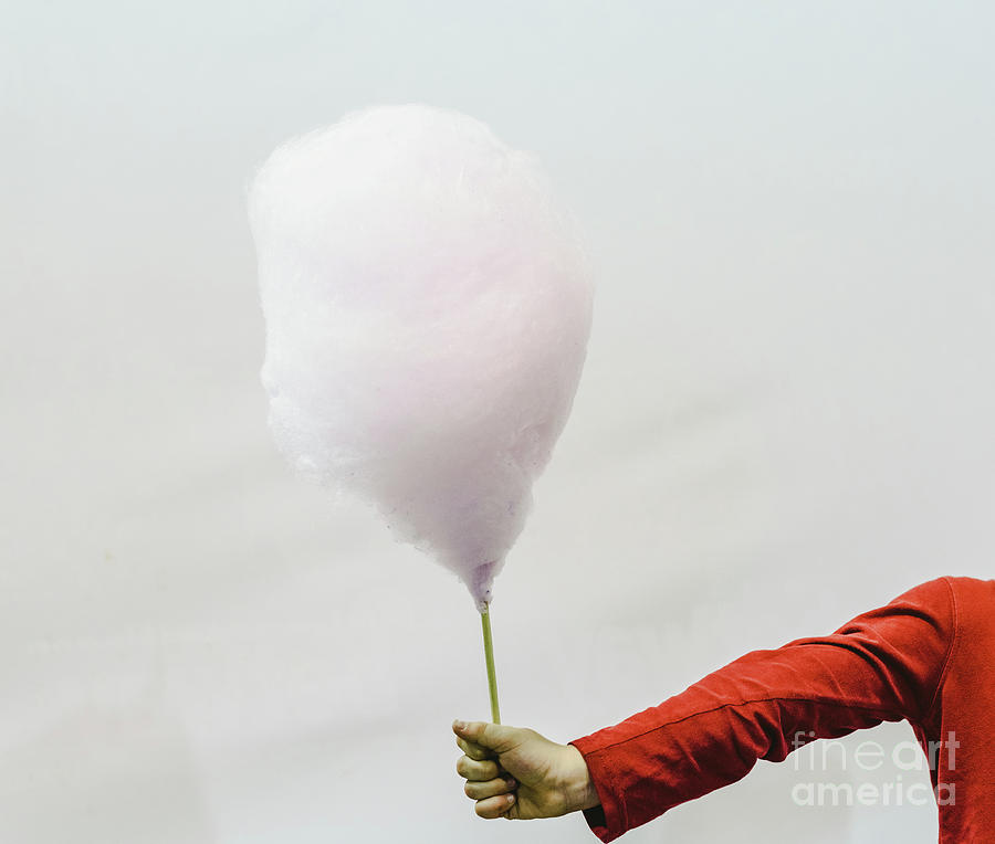 cotton candy held by