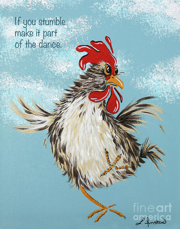 Chicken Painting : chicken, painting, Dancing, Chicken, Painting, Linda, Finstad