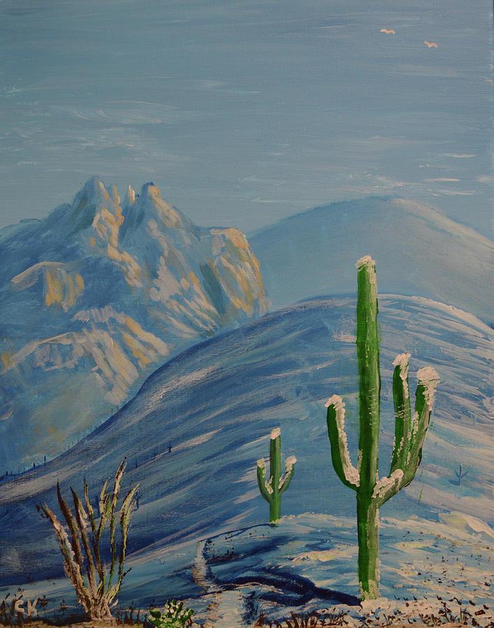 Finger Rock Trail : finger, trail, Finger, Trail, Snow,, Tucson,, Arizona, Painting, Chance, Kafka