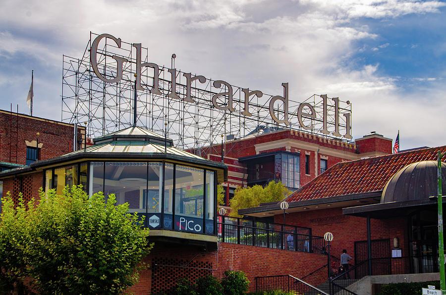 Ghirardelli Square - San Francisco California Photograph by Bill Cannon