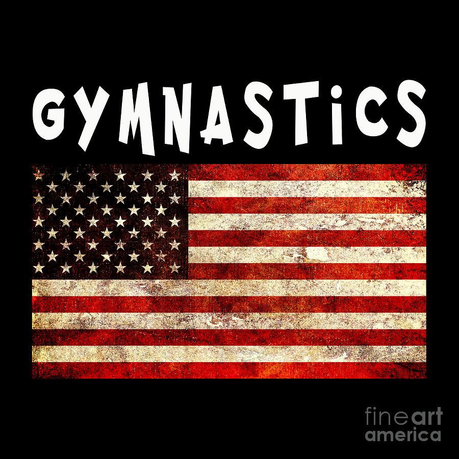 gymnastics usa american flag