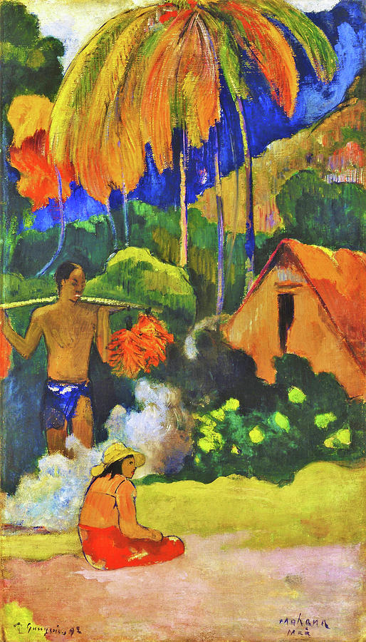 Landscape in Tahiti II - Digital Remastered Edition Painting by Paul Gauguin