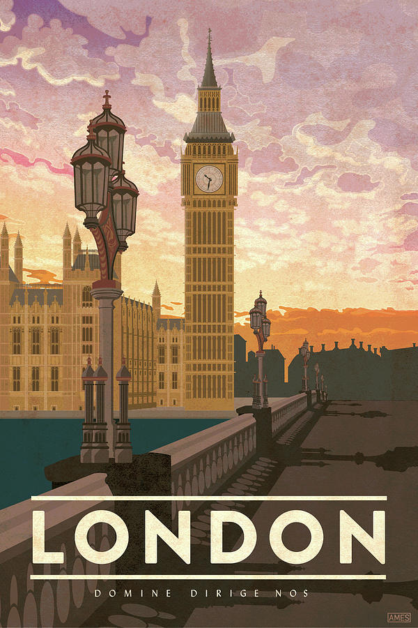 london travel poster by missy ames