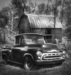 1957 photograph love that black and white 1957 chevy truck by debra and dave vanderlaan [ 900 x 900 Pixel ]