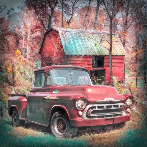 small resolution of 1957 photograph love that red 1957 chevy truck soft painting by debra and dave vanderlaan