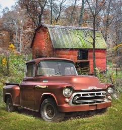 1957 photograph love that rusty red 1957 chevy truck by debra and dave vanderlaan [ 900 x 900 Pixel ]