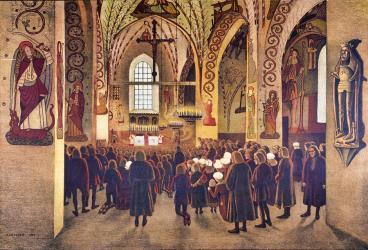 mass medieval catholic drawing liukkonen pekka drawings 29th uploaded november which