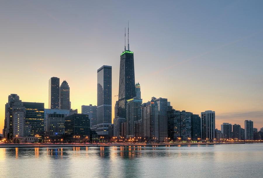 northern chicago skyline at