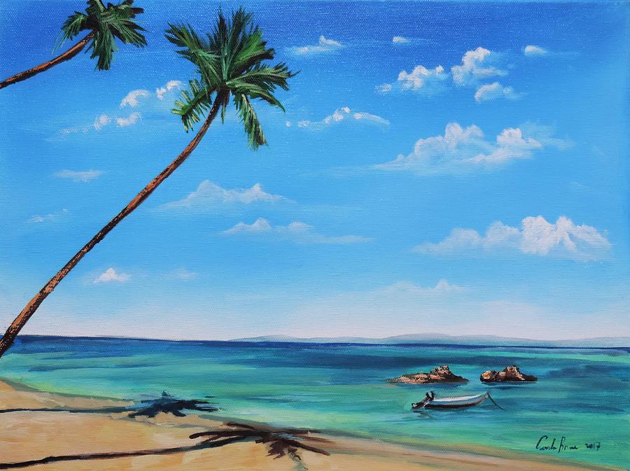 palm trees seascape