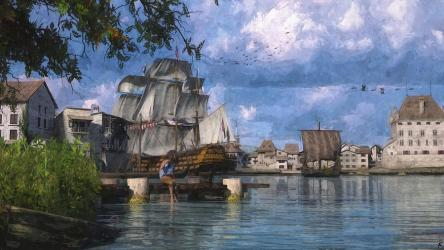 Port Town Digital Art by Jeff Stoner