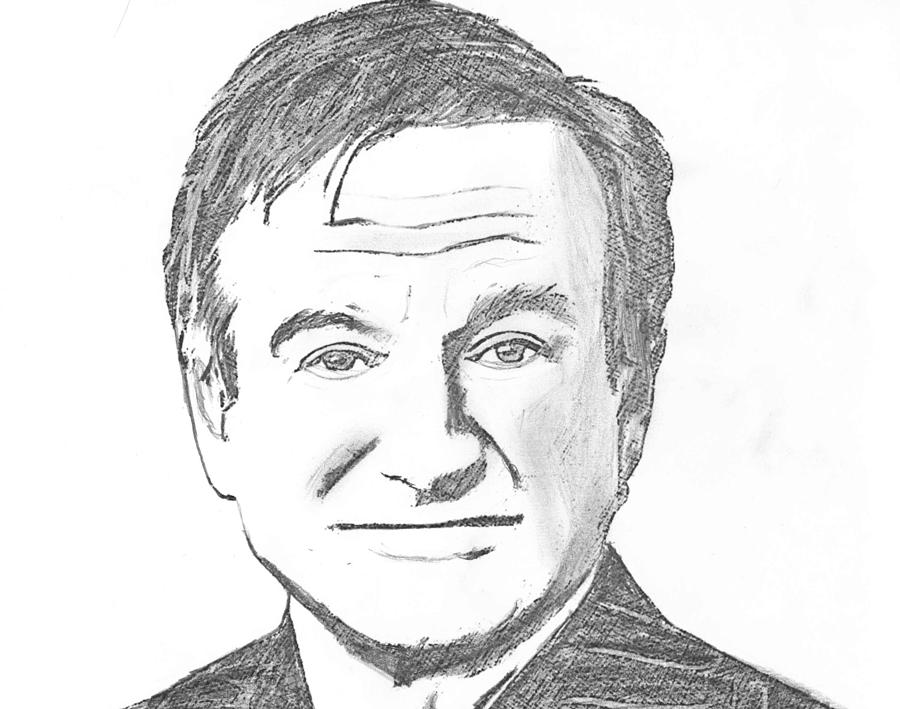 Robin Williams Drawing by Robert Scott
