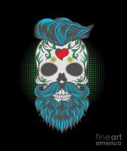 skull bearded skeleton beards facial