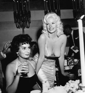 Sophia Loren And Jayne Mansfield Photograph by Michael Ochs Archives