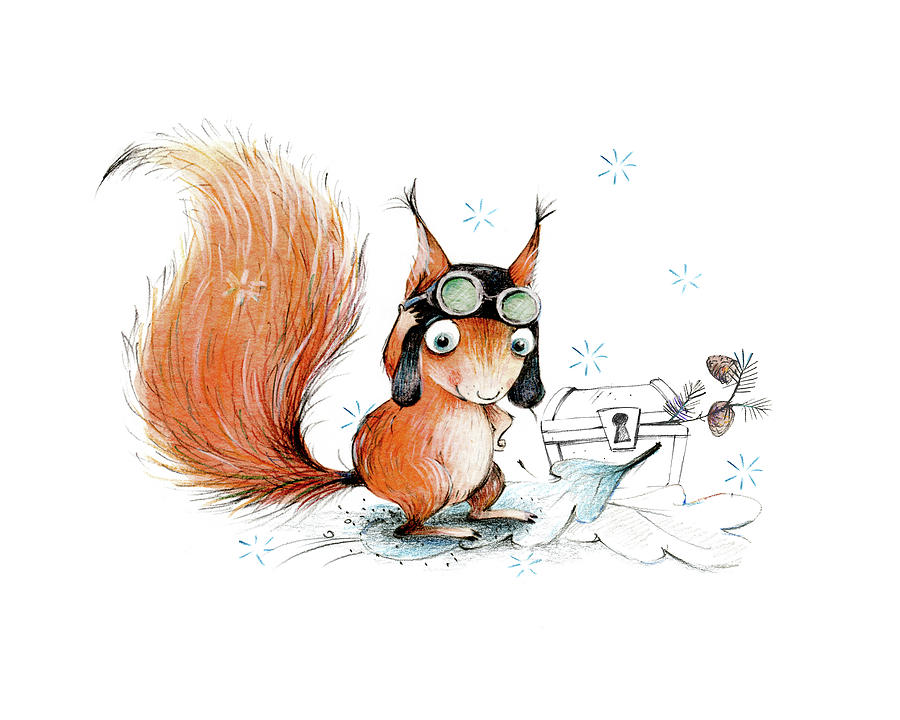 squirrel with a pilot