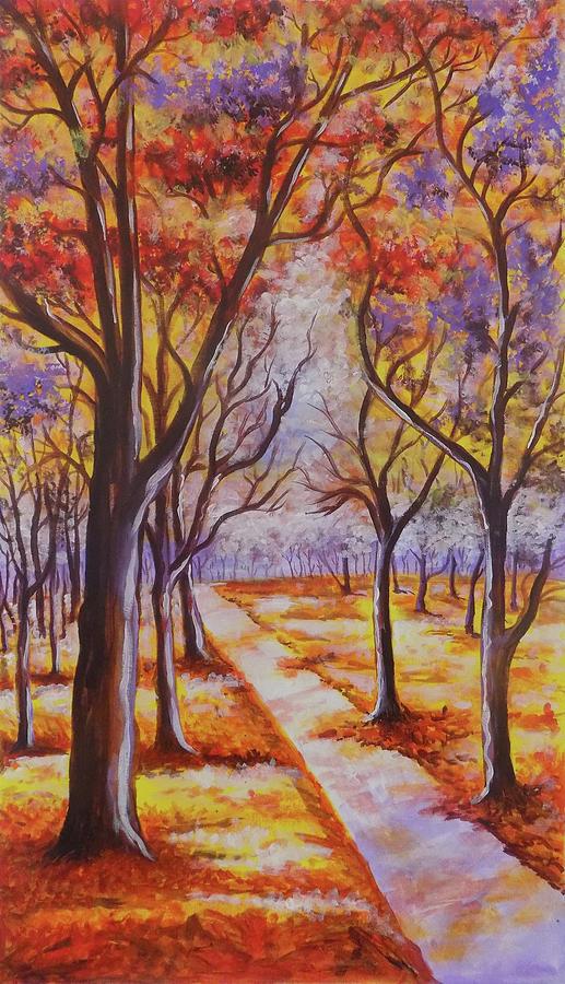 the autumn trees